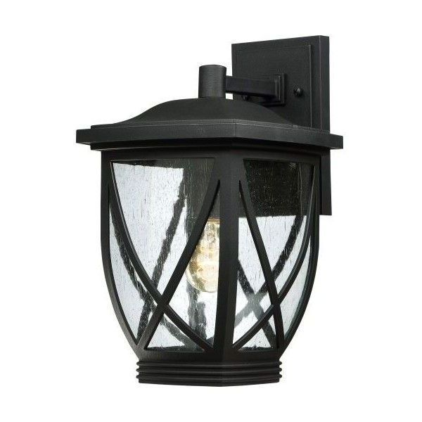 """Bellefield Black 15'' H Outdoor Wall Lanterns Intended For Famous Quoizel Tdr8409fl Lq Tudor Outdoor 1 Light 15"""" Tall (View 15 of 15)"""