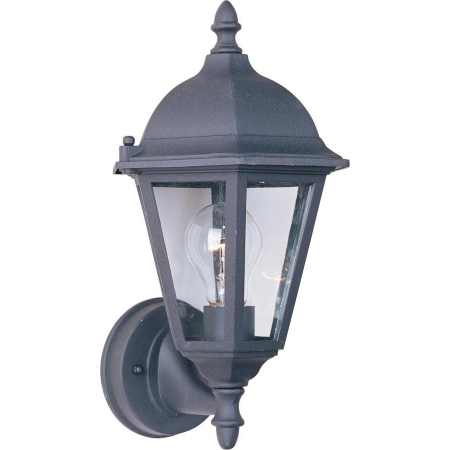 Best And Newest Bellefield Black 15'' H Outdoor Wall Lanterns Within Maxim Lighting Westlake 15 In H Black Medium Base (e  (View 3 of 15)
