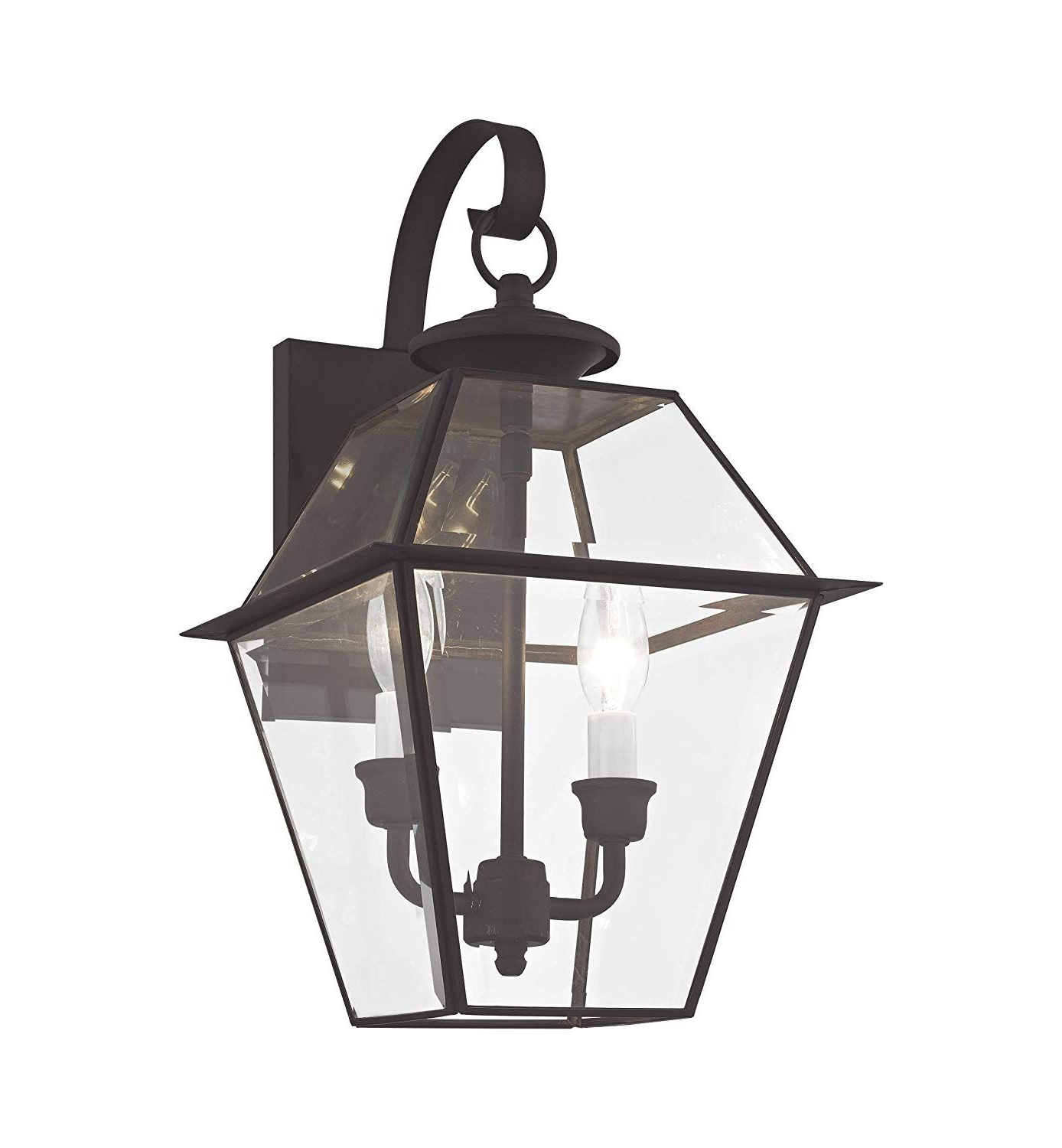 Best And Newest Livex Lighting 2281 04 Westover 2 Light Outdoor Black Throughout Gillian Beveled Glass Outdoor Wall Lanterns (View 1 of 15)