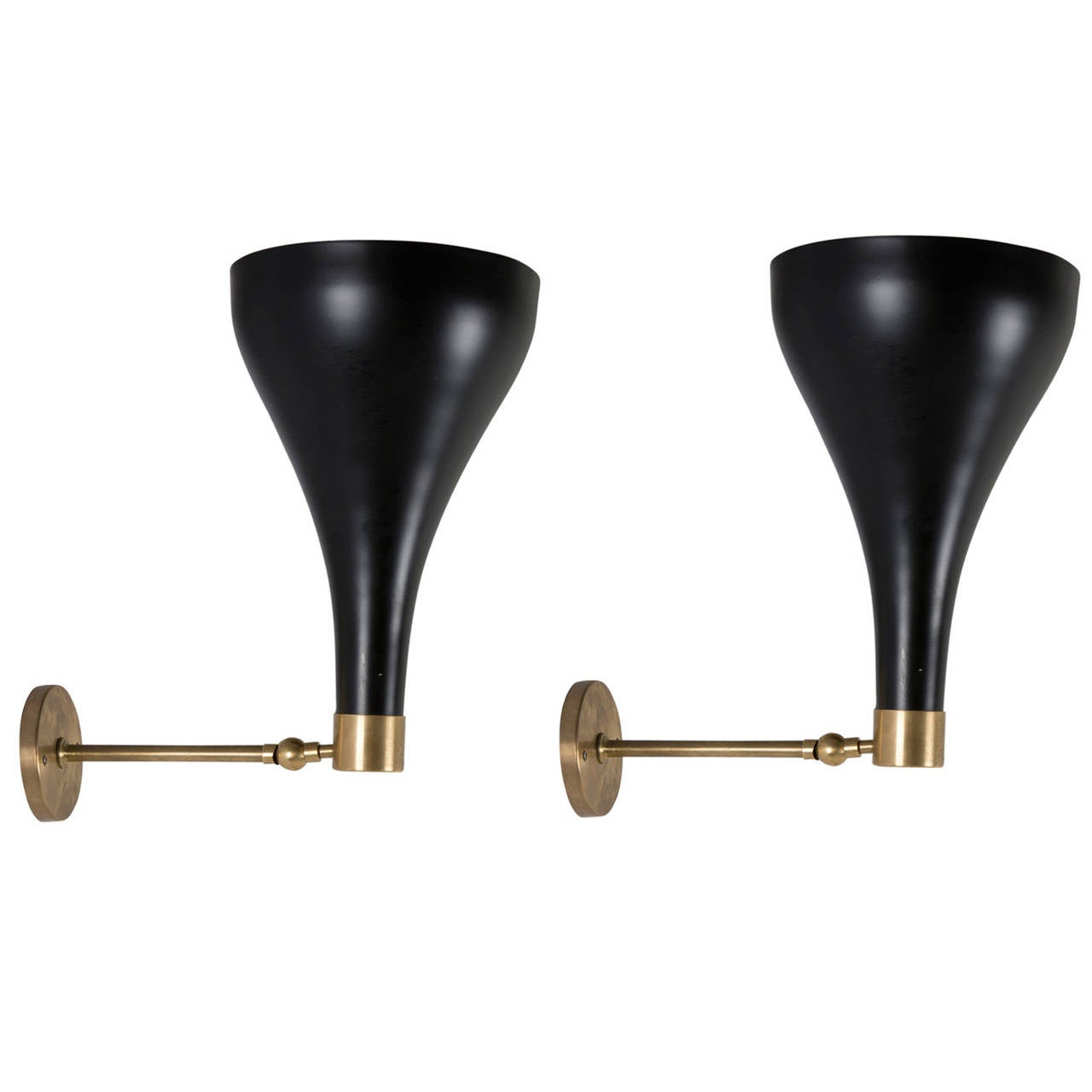 Best And Newest Pair Of Italian 1950s Wall Lights For Sale At 1stdibs Pertaining To Jaceton Black  (View 3 of 15)