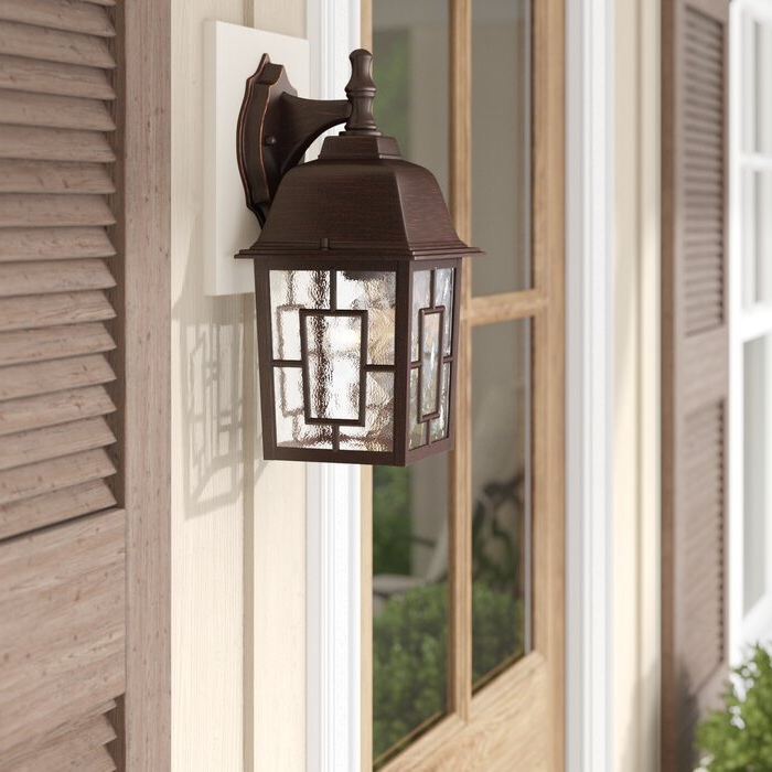 Best And Newest Payeur 12.25'' H Hammered Glass Outdoor Wall Lanterns Regarding Sol 72 Outdoor™ Payeur  (View 14 of 15)