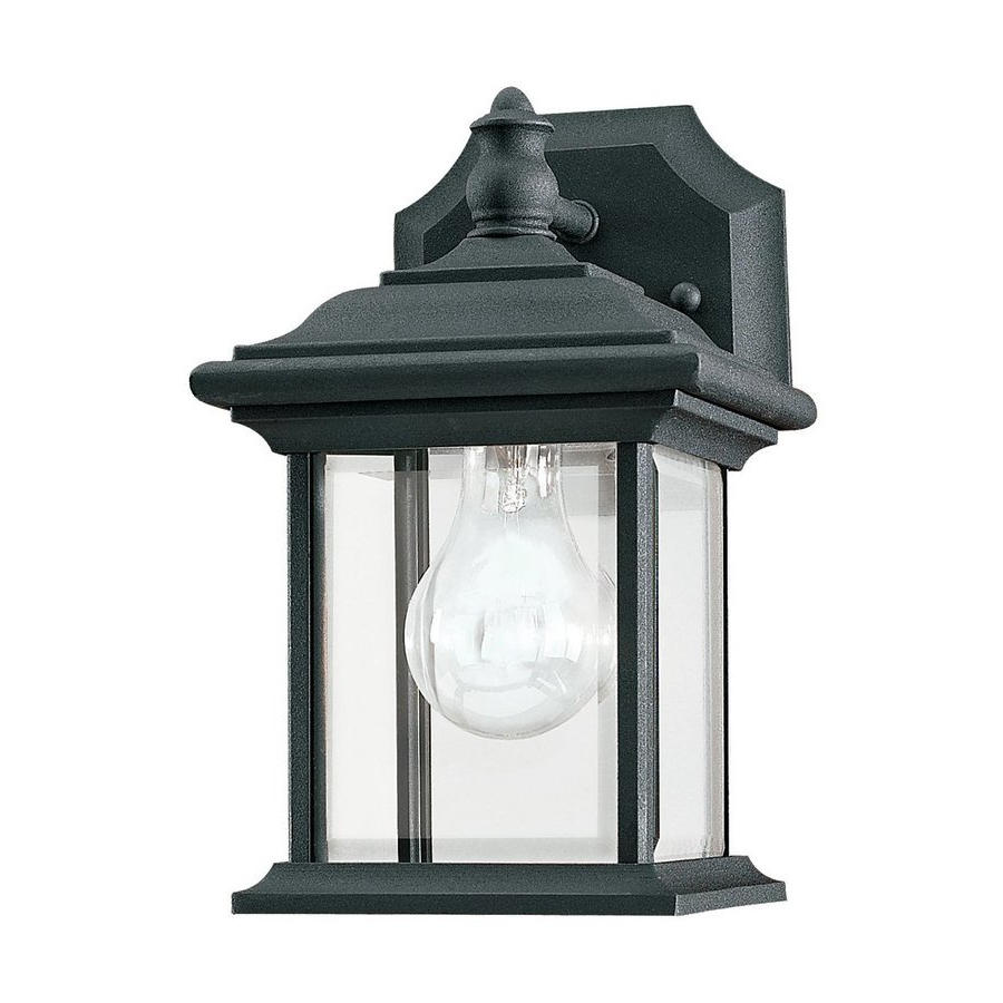 Best And Newest Shop Sea Gull Lighting Wynfield 9.75 In H Black Outdoor Within Gillett  (View 6 of 15)