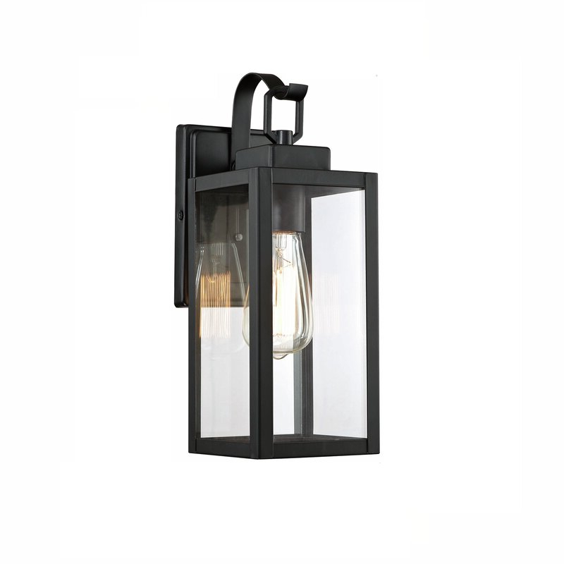 Binegar Matte Black 9.85'' H Outdoor Wall Lanterns Intended For Widely Used Trent Austin Design® Binegar Matte Black  (View 2 of 4)