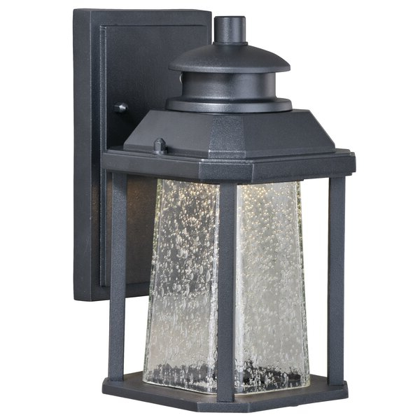 Brayden Studio® Farren Black Integrated Led Seeded Glass Throughout Latest Vernie Black  (View 8 of 15)