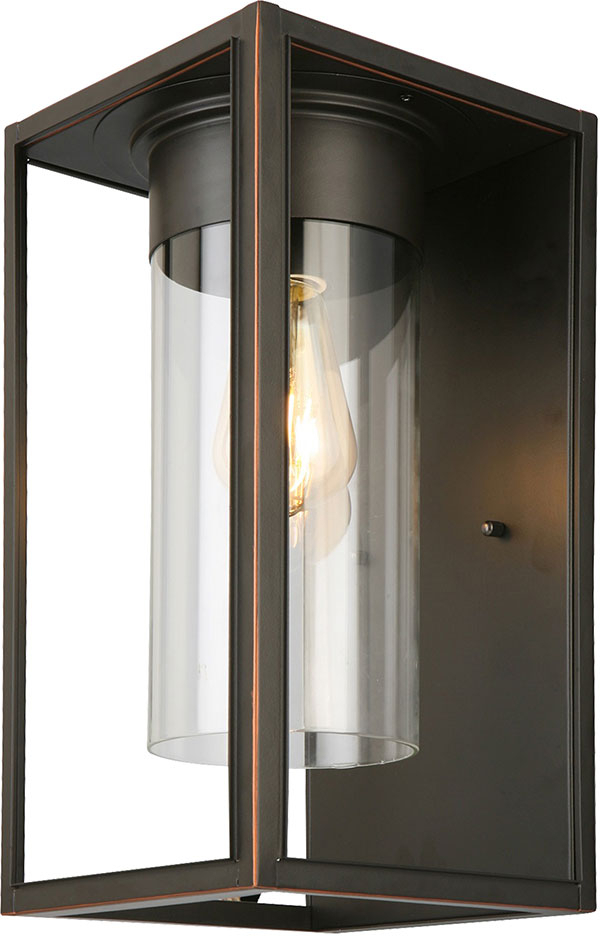 Cano 7.5'' H Wall Lanterns In Most Current Eglo 203032a Walker Hill Oil Rubbed Bronze Outdoor  (View 2 of 15)