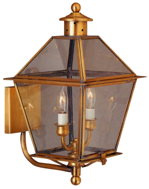 Carolina Colonial Copper Lantern Outdoor Wall Light Made Inside Preferred Anner 18'' H Seeded Glass Outdoor Wall Lanterns (View 11 of 15)
