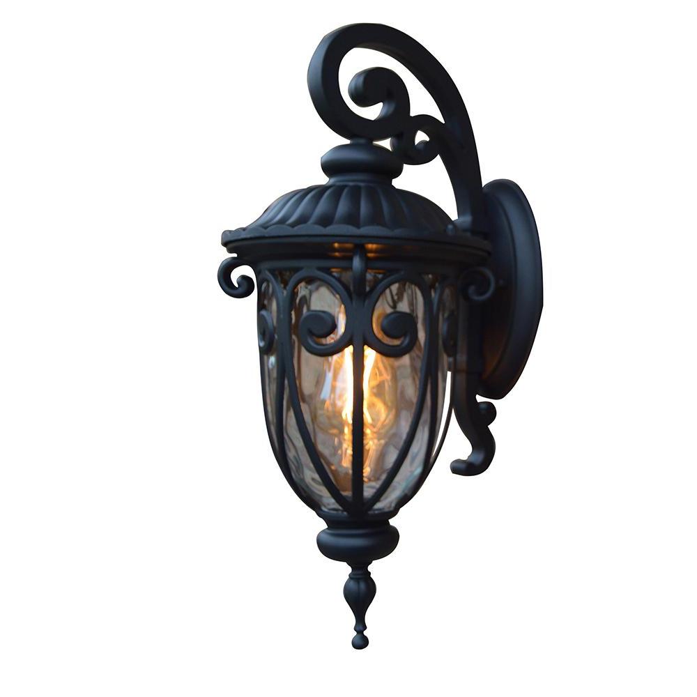Caroline Outdoor Wall Lanterns For Preferred Y Decor Hailee 1 Light Matte Black Outdoor Wall Lantern (View 10 of 15)