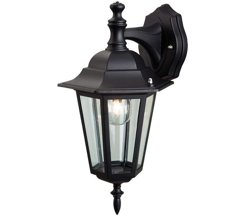Caroline Outdoor Wall Lanterns Within Most Up To Date Firstlight 6 Panel Outdoor Downward Wall Lantern, Die Cast (View 6 of 15)