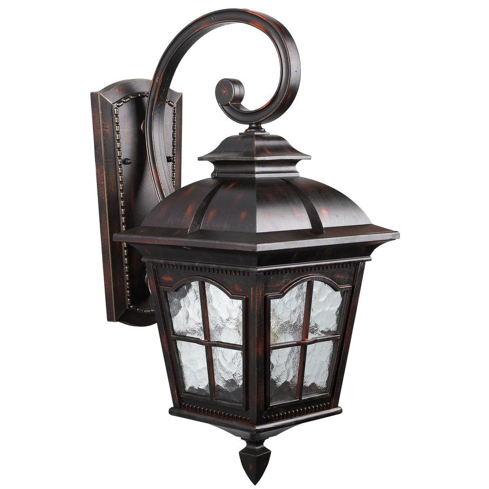 Carrington Beveled Glass Outdoor Wall Lanterns Pertaining To Newest Canarm Madison 1 Light Rustic Bronze Outdoor Wall Lantern (View 2 of 15)