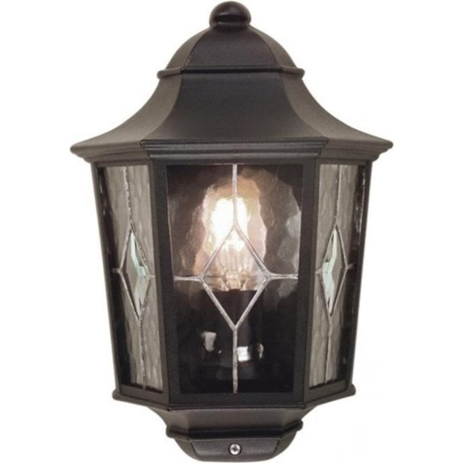 Carrington Beveled Glass Outdoor Wall Lanterns With Favorite Flush Fitting Outside Wall Lantern With Leaded Glass Panels (View 12 of 15)
