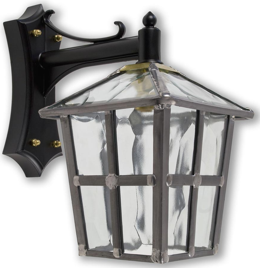 Chicopee Beveled Glass Outdoor Wall Lanterns In Latest York Handmade Clear Rippled Leaded Glass Outdoor Wall Lantern (View 14 of 15)