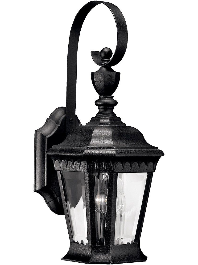 Chicopee Beveled Glass Outdoor Wall Lanterns Inside Fashionable Camelot Small Porch Lantern With Clear Beveled Glass (View 10 of 15)