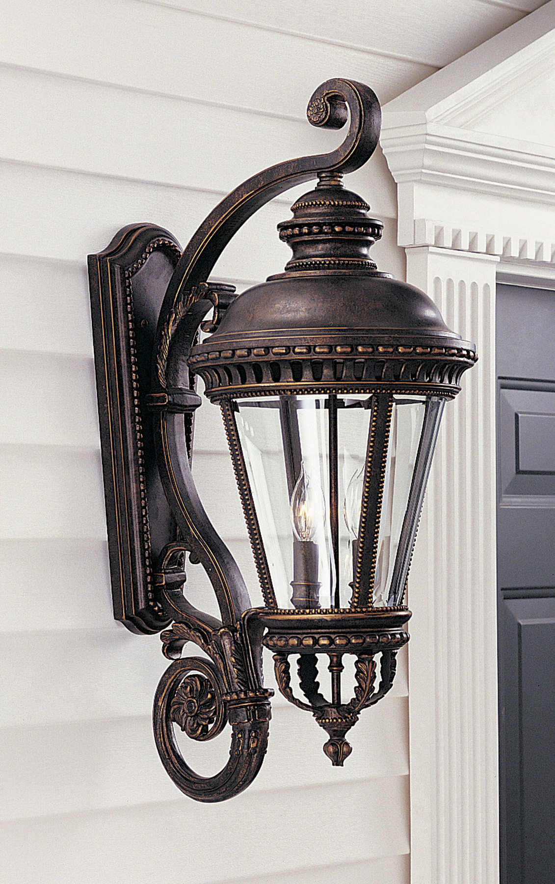 Chicopee Beveled Glass Outdoor Wall Lanterns Regarding Well Known Feiss Ol1904gbz Castle Outdoor Wall Lantern (View 2 of 15)