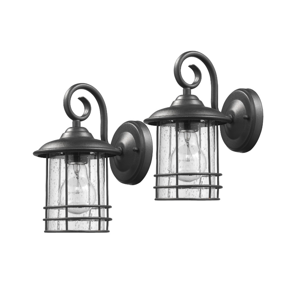 Chloe Lighting Transitional 1 Light Black Outdoor Wall For Most Current Clarence Black 10'' H Outdoor Wall Lanterns (View 14 of 15)