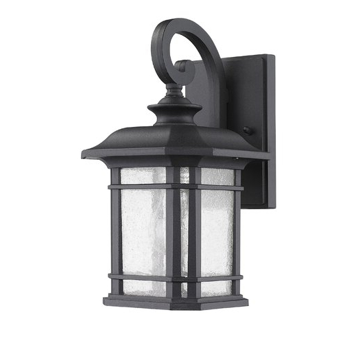Chloe Lighting Transitional 1 Light Franklin Outdoor Wall Regarding Current Brierly Oil Rubbed Bronze/black 12'' H Outdoor Wall Lanterns (View 14 of 15)