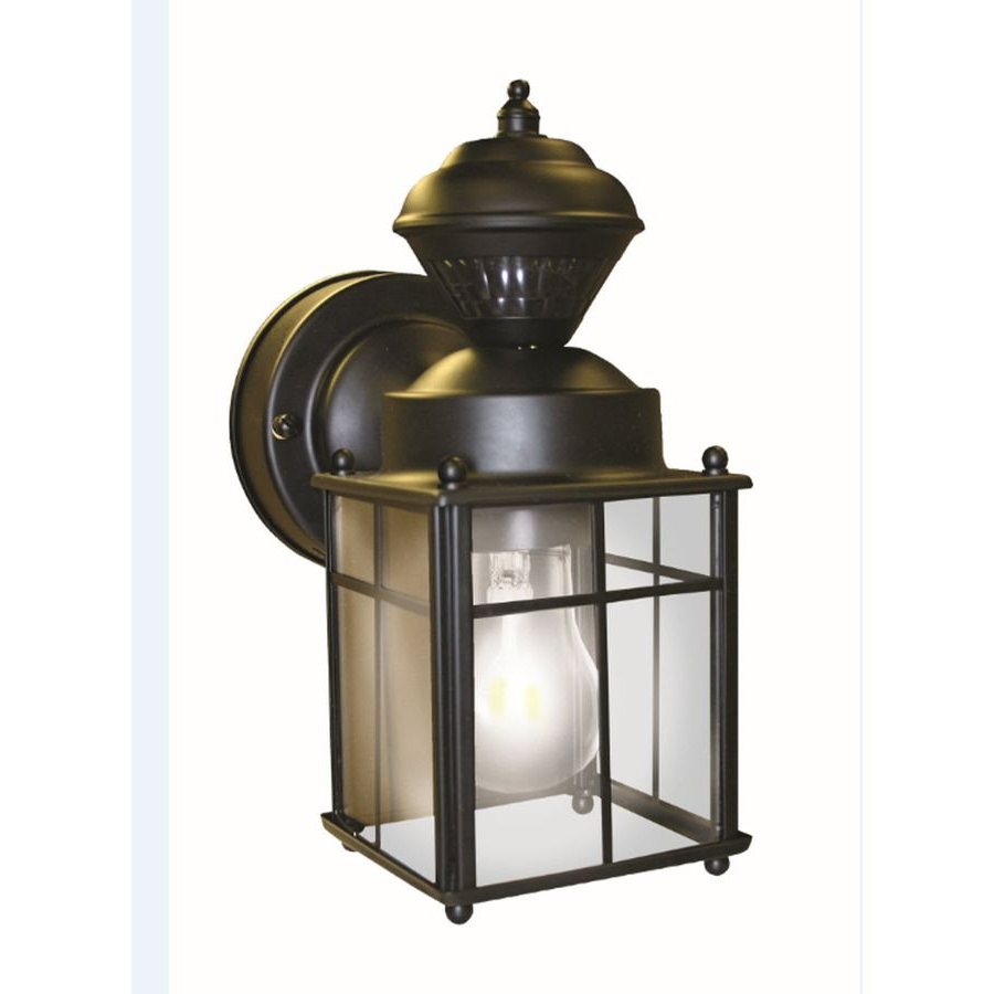 Clarence Black 10'' H Outdoor Wall Lanterns In Famous Heath Zenith  (View 4 of 15)