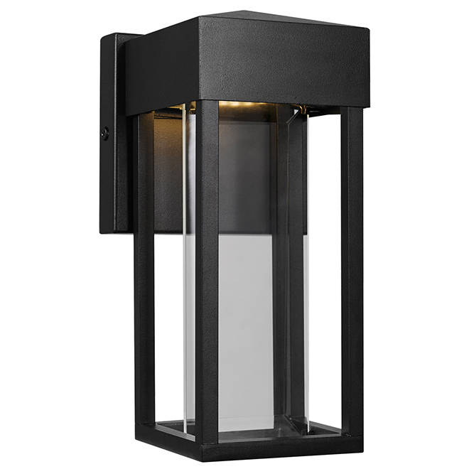 Clarence Black 10'' H Outdoor Wall Lanterns Regarding Famous Globe – Outdoor Led Wall Sconce – 10 W – Black  (View 9 of 15)