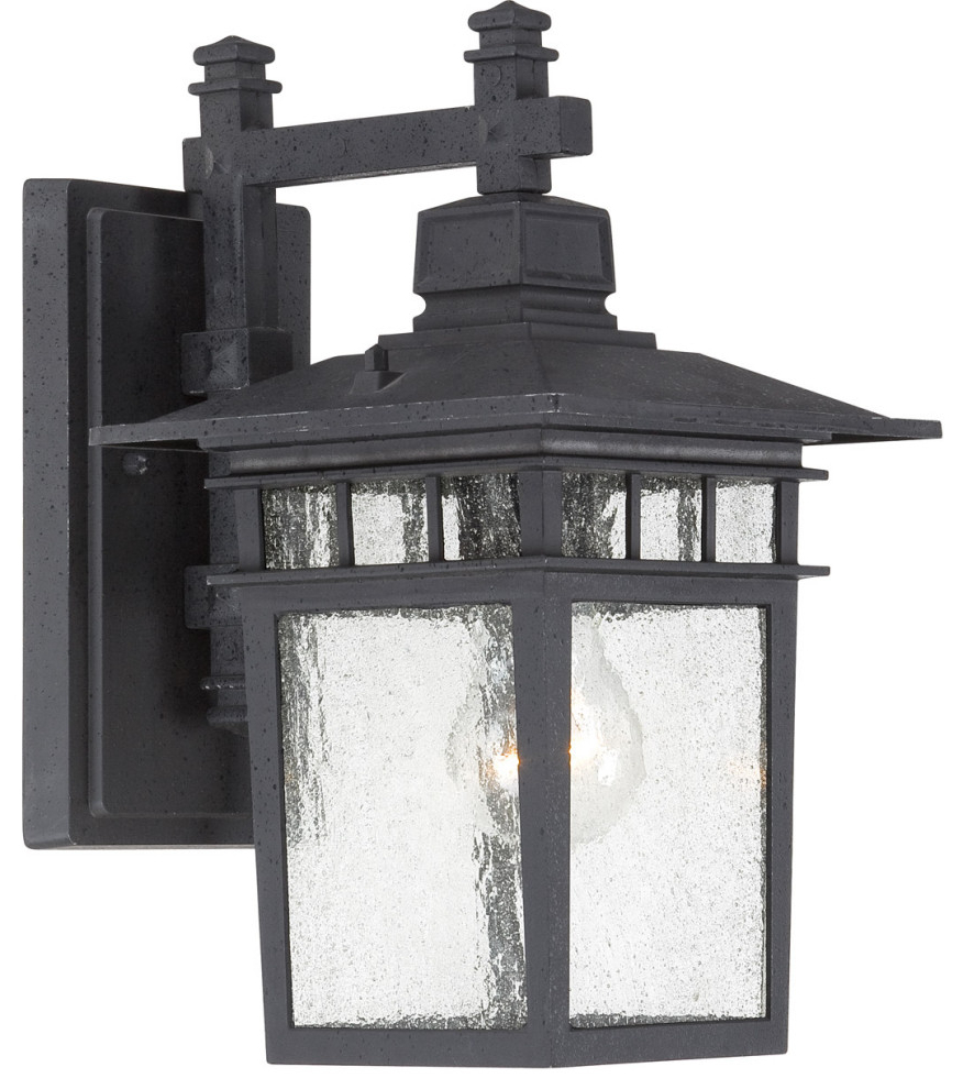 """Clarisa Seeded Glass Outdoor Barn Lights With Dusk To Dawn Inside 2019 Cove Neck 1 Light – 12"""" Outdoor Lantern With Clear Seed (View 9 of 15)"""