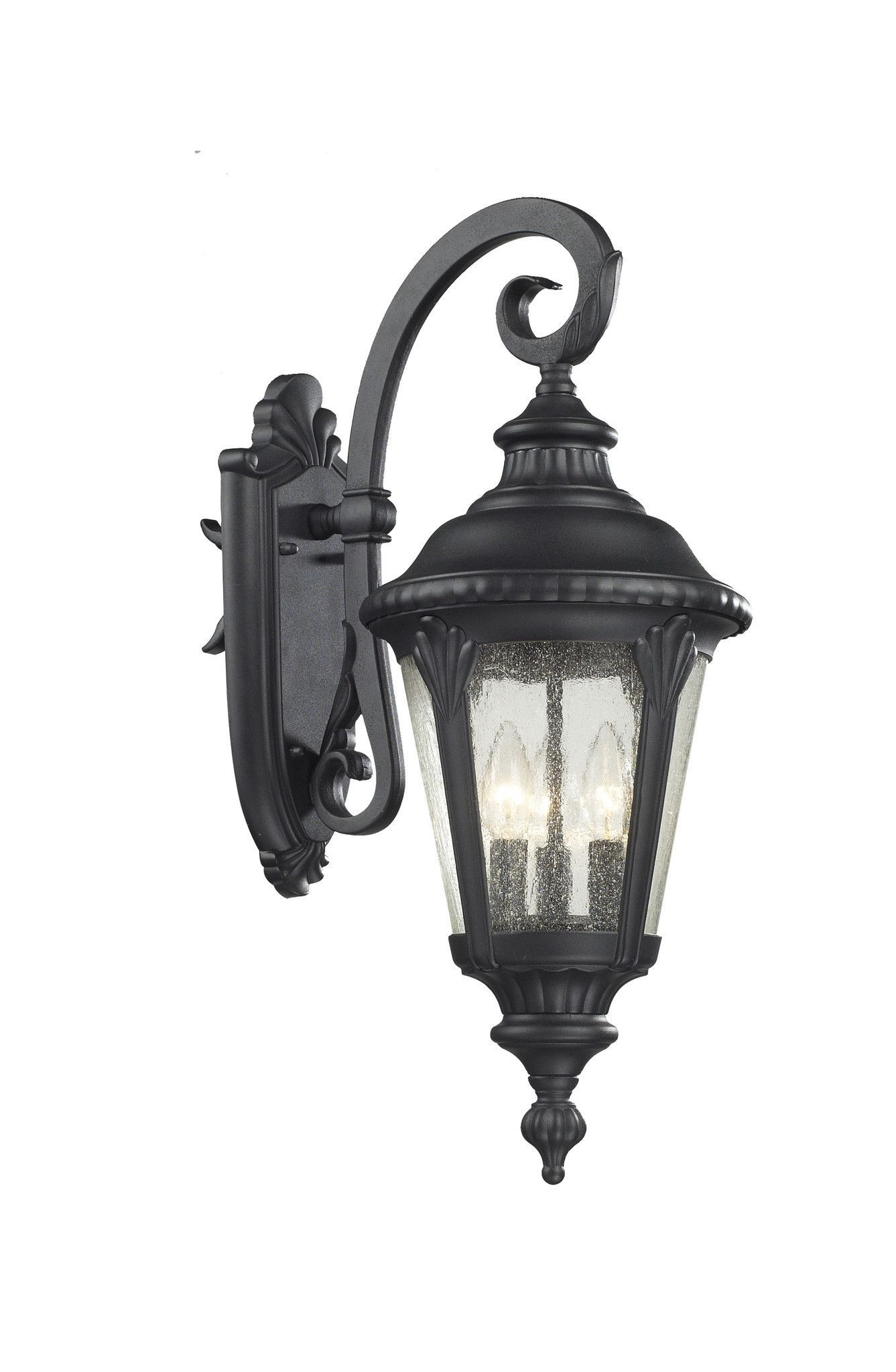 Clarisa Seeded Glass Outdoor Barn Lights With Dusk To Dawn Regarding Latest Traditional And Timeless, This Medium Outdoor Wall Mount (View 15 of 15)