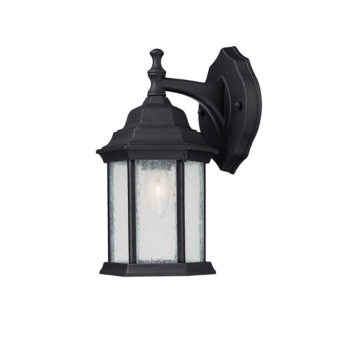 Clarisa Seeded Glass Outdoor Barn Lights With Dusk To Dawn Throughout Popular One Light Wall Lantern (View 3 of 15)