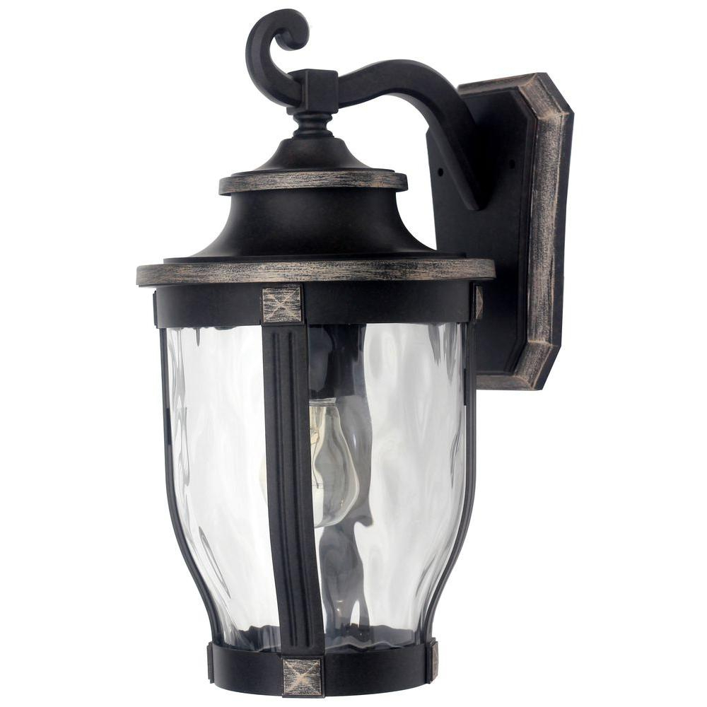 Current 1 – Bulb Outdoor Wall Lanterns Throughout Home Decorators Collection Mccarthy 1 Light Bronze Outdoor (View 7 of 15)