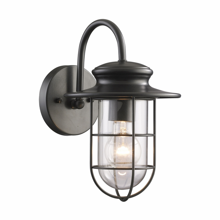 Current 1 – Bulb Outdoor Wall Lanterns With Regard To Elk Lighting – Portside 1 Light Outdoor Wall Sconce In (View 14 of 15)