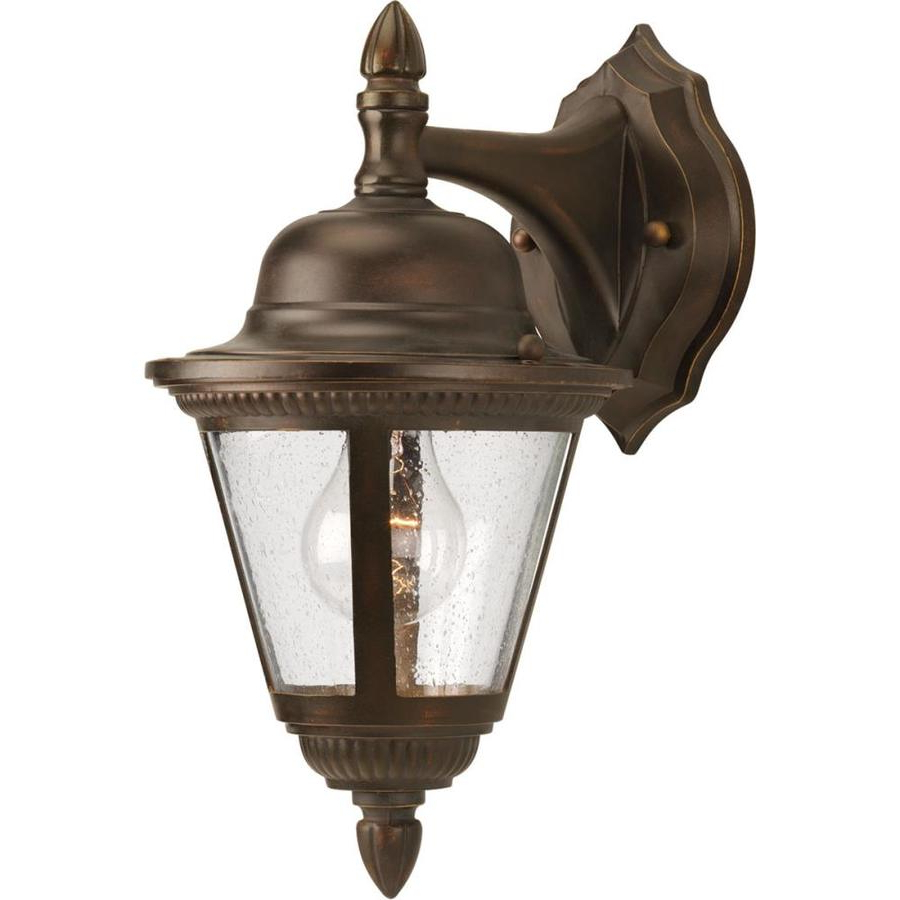 Current Black 13.4'' H Hammered Glass Outdoor Wall Lanterns Pertaining To Progress Lighting Westport  (View 8 of 15)