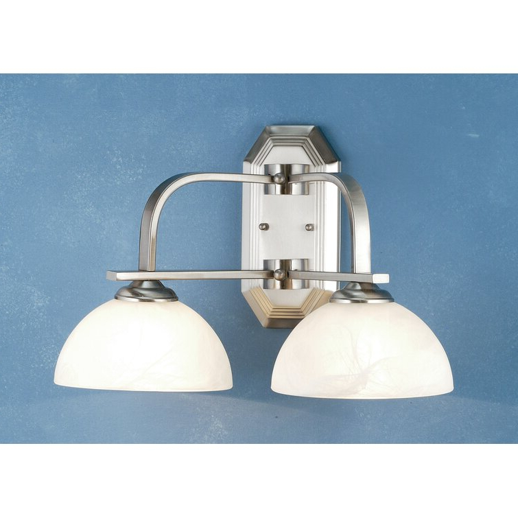 Current Cantrall 8'' H Outdoor Armed Sconces With Meyda Tiffany Manhattan 2 – Light Dimmable Nickel Armed (View 10 of 15)