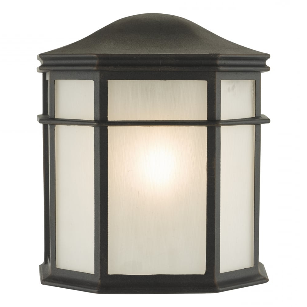Current Dar Lighting Dulbecco Single Light Outdoor Wall Lantern In Within Ciotti Black Outdoor Wall Lanterns (View 9 of 15)