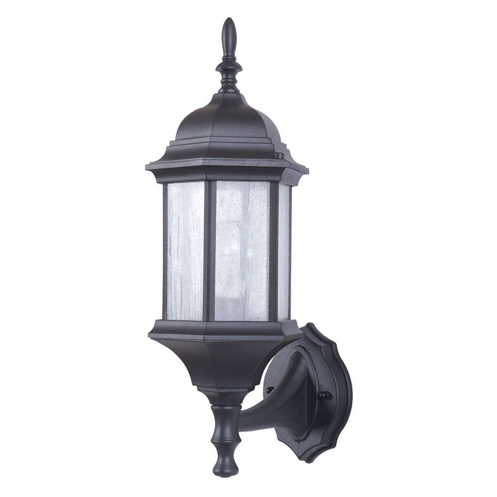 Current Emaje Black Seeded Glass Outdoor Wall Lanterns With Seeded Glass Outdoor Wall Light Black Craftmade Lighting (View 10 of 15)