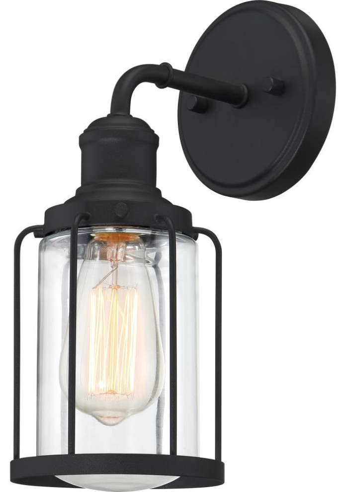 Current Ludlow Wall Sconce, Earth Black – Industrial – Wall In Ainsworth Earth Black Outdoor Wall Lanterns (View 2 of 15)
