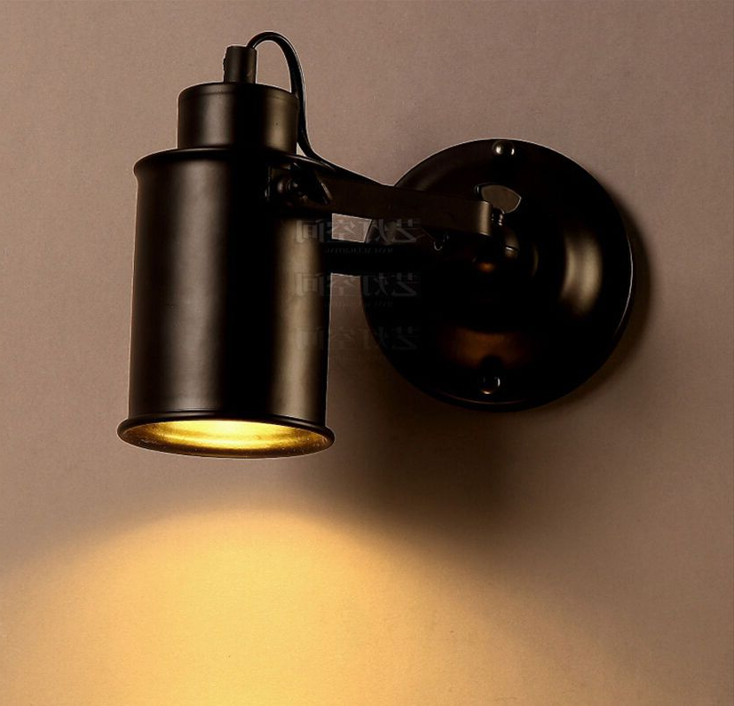 Current Rickey Matte Antique Black Wall Lanterns In Vintage Industrial Style Sconce Matte Black E27 Light (View 15 of 15)