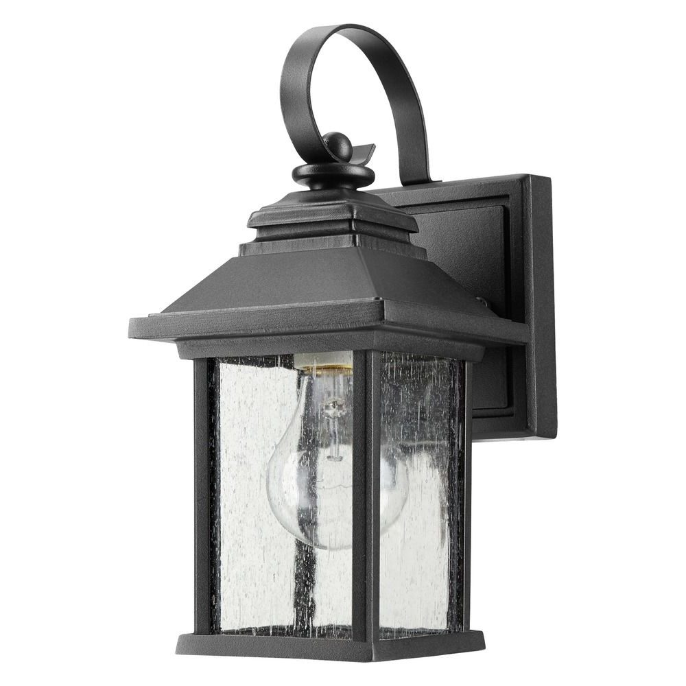 Current Seeded Glass Outdoor Wall Light Black Quorum Lighting Throughout Palma Black/clear Seeded Glass Outdoor Wall Lanterns (View 2 of 15)