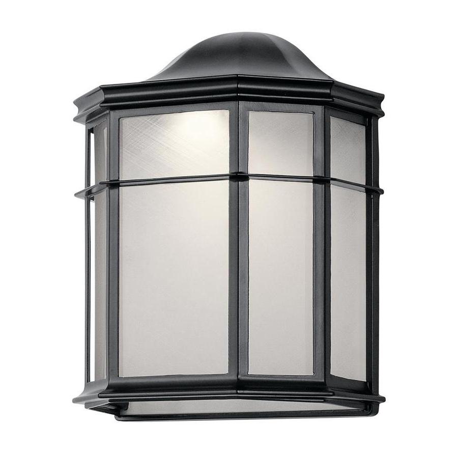 Current Vernie Black 9.75'' H Integrated Led Outdoor Bulkhead Lights Regarding Kichler Kent  (View 5 of 15)
