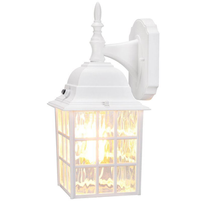 Featured Photo of Edenfield 13.78'' H Water Glass Outdoor Wall Lanterns with Dusk to Dawn