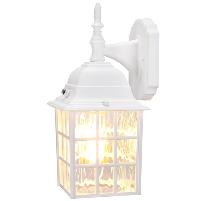 Edenfield 13.78'' H Water Glass Outdoor Wall Lanterns With Dusk To Dawn Inside Best And Newest Andover Mills™ Edenfield 1 – Bulb  (View 2 of 5)