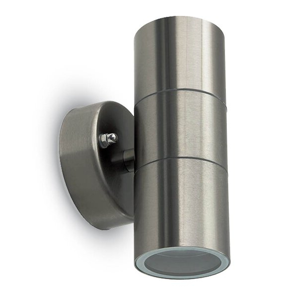 Edith 2 Bulb Outdoor Armed Sconces Pertaining To Well Known Dakota Fields Stainless Steel 2 – Bulb  (View 5 of 15)
