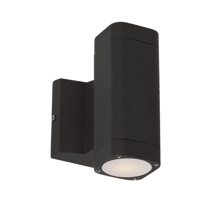 Edith 2 Bulb Outdoor Armed Sconces Pertaining To Well Known Latitude Run® Terron 2 – Bulb Integrated Led Glass Outdoor (View 12 of 15)