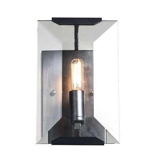 Elegant Lighting 1212w6fb Monaco Matte Black 6 Inch One Pertaining To Most Up To Date Rickey Matte Antique Black Wall Lanterns (View 14 of 15)