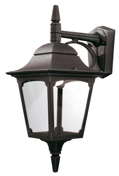 Elstead Chapel 1 Light Downward Outdoor Wall Lantern Black With Newest Garneau Black Wall Lanterns (View 12 of 15)