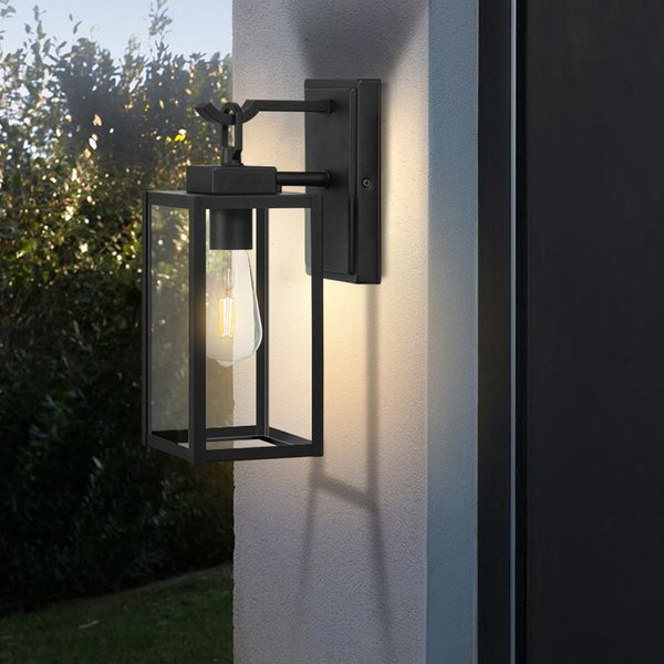 Famous 17 Stories Bensonhurst Matt Black 13.58'' H Outdoor Wall With Bensley Matt Black  (View 7 of 15)