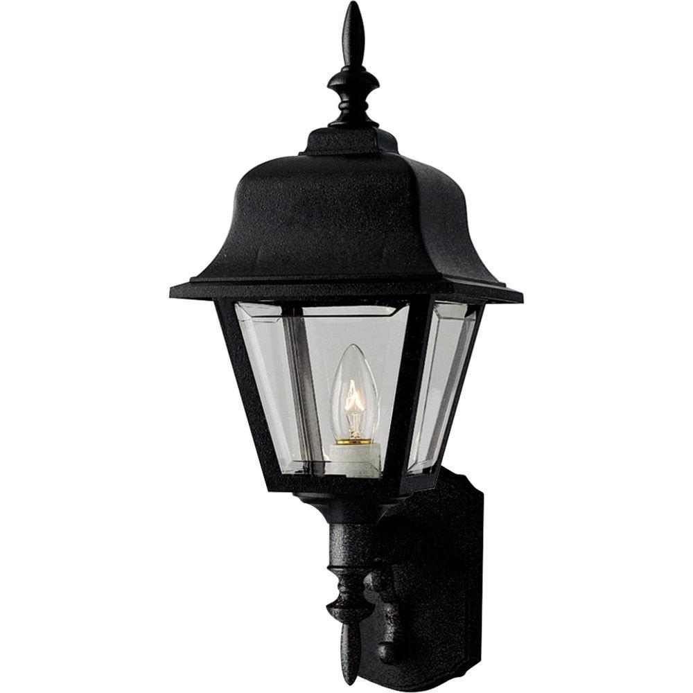 Famous Armanno Matte Black Wall Lanterns With Hampton Bay 1 Light Black Dusk To Dawn Outdoor Wall (View 14 of 15)