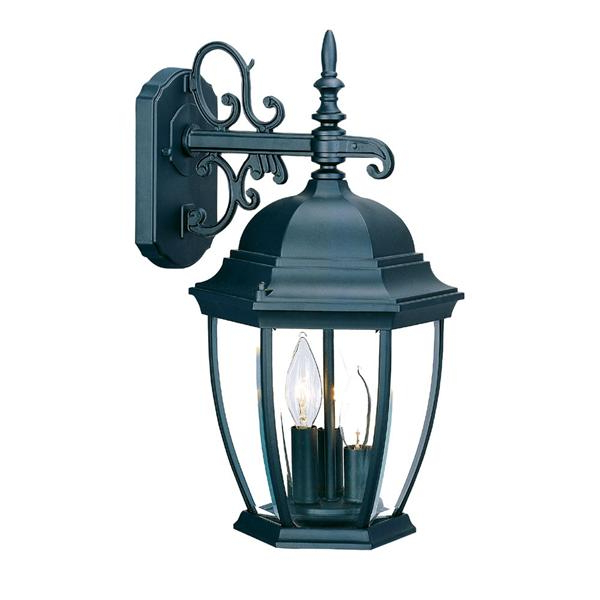 Famous Bayou 17'' H Beveled Glass Outdoor Wall Lanterns Within Acclaim Lighting – 5032bk (View 6 of 15)