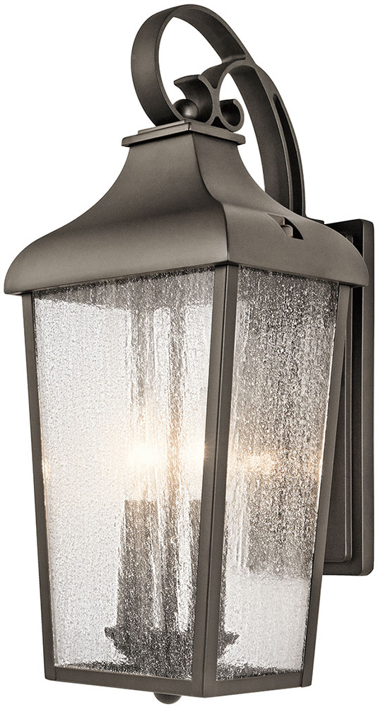 Famous Caroline Outdoor Wall Lanterns Inside Kichler 49736oz Forestdale Olde Bronze Outdoor Wall (View 14 of 15)