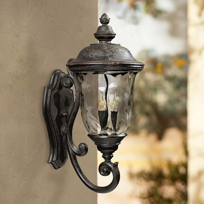 """Famous Carriage House Collection 26 1/2"""" High Outdoor Wall Light Within Chicopee 2 – Bulb Glass Outdoor Wall Lanterns (View 5 of 15)"""