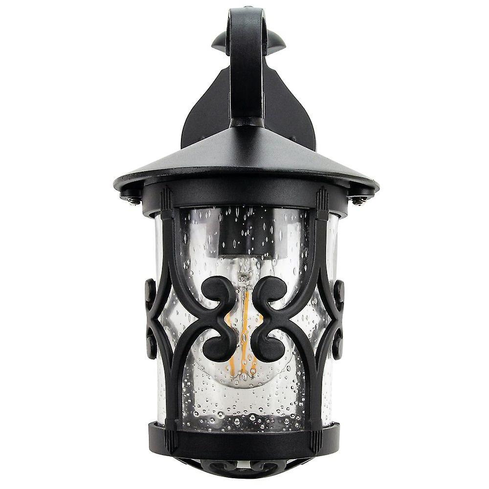 Famous Classic Matt Black Lantern Ip44 Outdoor Wall Light With For Merild Textured Black Wall Lanterns (View 2 of 15)