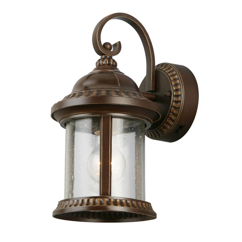 Famous Home Decorators Collection Bronze Motion Sensor Outdoor With Tangier Dark Bronze Wall Lanterns (View 7 of 15)