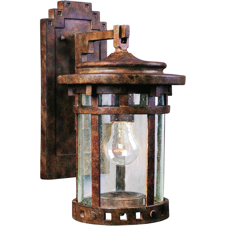 Famous Maxim Lighting Maxim Santa Barbara Vx One Light 13 With Regard To Lainey 13'' H Outdoor Barn Lights (View 12 of 15)