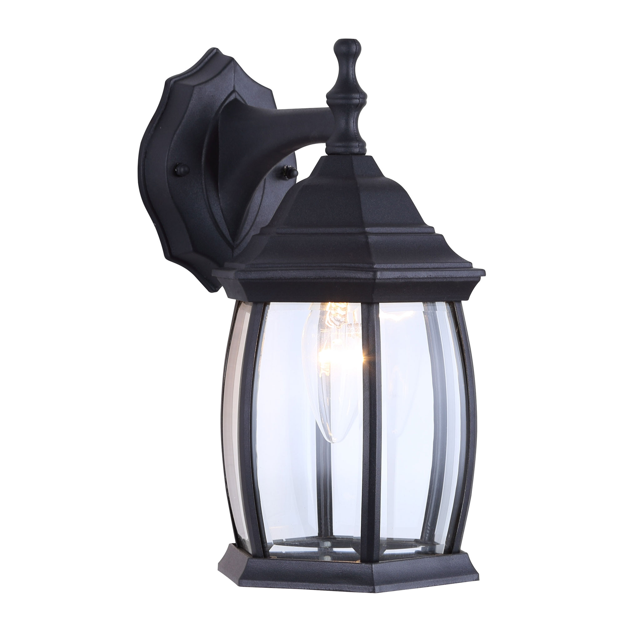 Famous One Light Outdoor Exterior Lantern Light Fixture Wall Intended For Merild Textured Black Wall Lanterns (View 4 of 15)