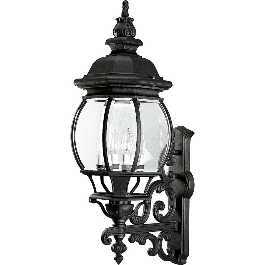 Famous Progress Lighting Onion Lantern 31 In H Textured Black In Turcot 12'' H Wall Lanterns (View 12 of 15)